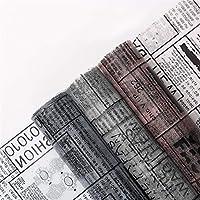 50cmx5yards英語ネット糸の花包装紙素材ギフトブーケ包装紙手作り装飾花材料装飾花の素材 (Color : N7)