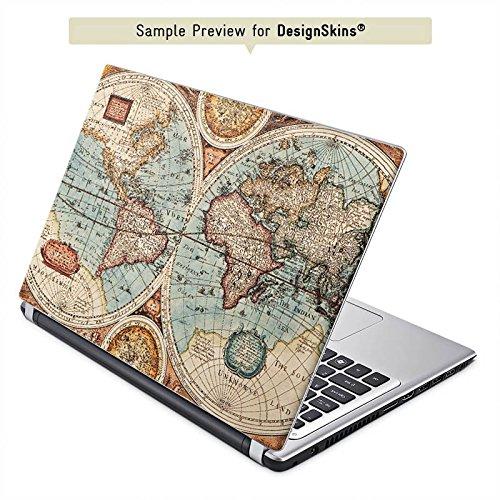 Cover kompatibel mit Acer Aspire E15 E5-571 Aufkleber Schutz Folie Design Sticker Skin Vintage Weltkarte Karte Map