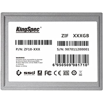 128 GB KingSpec 1,8 ZIF 40 pines de estado sólido SSD disco SMI ...