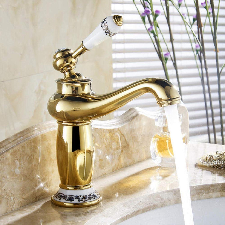 Hiwenr Waschbecken Waschbecken Wasserhahn Wassermischer Wasserhahn Bad Wasserhahn Messing Bad Mischbatterie Waschbecken Mischbatterien Bad Golden