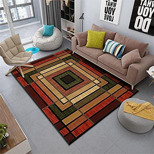 Bktmen Alfombras de alfombras para Pisos de Madera Dura marrón Alfombra Rectangular Resistente al Desgaste y Color-rápido para la Sala de Estar Accesorios de la Sala de Estar alfombras Lavables