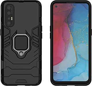 YEESOON Oppo Find X2 Neo Case, Dual Layer Hybrid Shockproof Protective Case with Ring Stand & Magnetic Car Mount Function ...