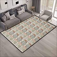 Collection Area Rug,Music Classical Instrumets String Quartet Violins Baroque Sonata,Children Crawling Bedroom Rug,4'11