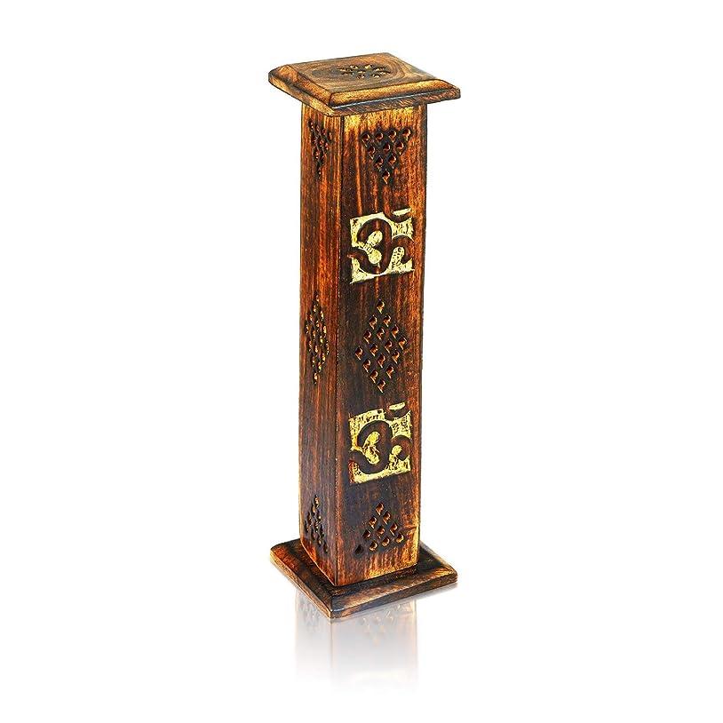 定義試す道を作る母の日ギフト木製お香スティックコーンバーナーホルダータワーLarge有機Eco Friendly Ashキャッチャー素朴なスタイル手彫りの瞑想ヨガアロマテラピーHome Fragrance製品