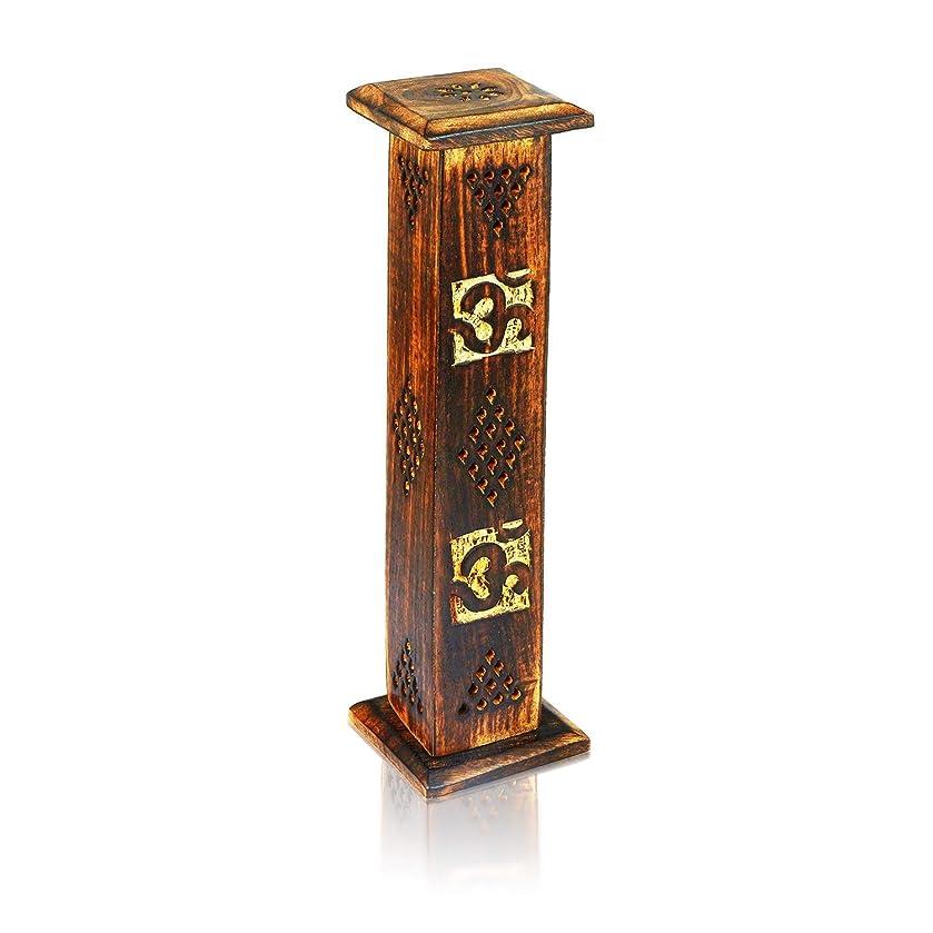 ささやき質素なハブブ母の日ギフト木製お香スティックコーンバーナーホルダータワーLarge有機Eco Friendly Ashキャッチャー素朴なスタイル手彫りの瞑想ヨガアロマテラピーHome Fragrance製品
