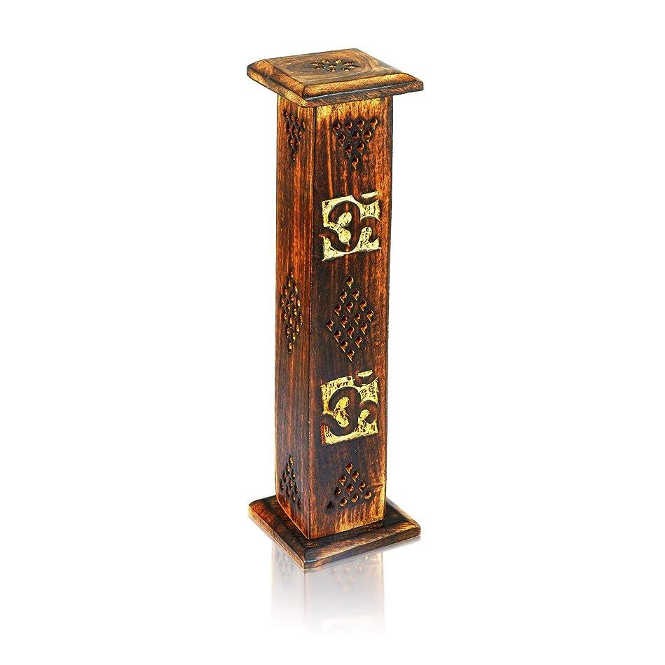 加害者はい先入観母の日ギフト木製お香スティックコーンバーナーホルダータワーLarge有機Eco Friendly Ashキャッチャー素朴なスタイル手彫りの瞑想ヨガアロマテラピーHome Fragrance製品