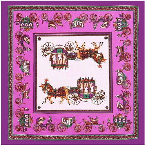 YDMZMS 70cm * 70cm Bufandas cuadradas para carruajes de Caballos Hijab Marca Bufanda de Seda de Sarga Mujeres Lady Diadema Seda FoulardPúrpura
