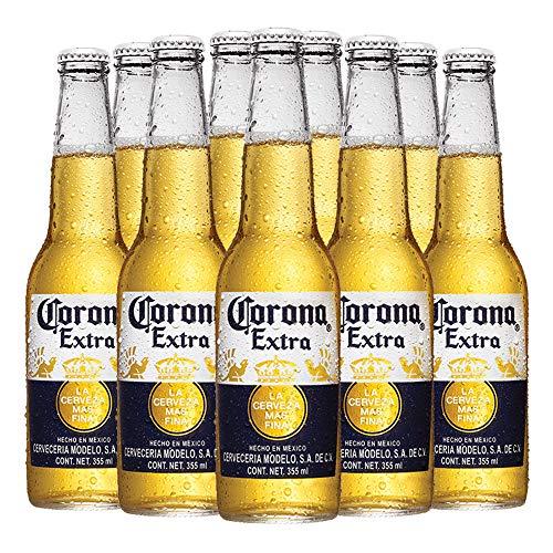 Cerveza Clara Corona Extra 24 botellas de 355ml c/u