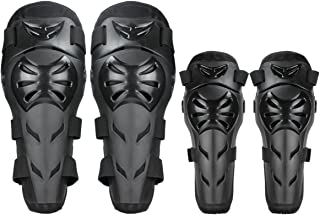 GES Knee Pads Motorcycle - 4Pcs Adult Knee/Motorcycle Elbow Pads/Adjustable Knee Cap Pads Protector Elbow Armor for Motorcycle Cycling Racing