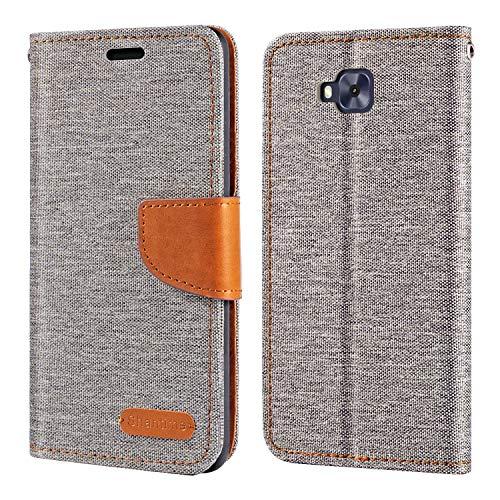 Capa para Asus Zenfone 4 Selfie ZD553KL, capa carteira de couro Oxford com capa traseira magnética de TPU macio para Asus Zenfone 4 Selfie ZD553KL