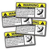 4 Mini GPS Vehicle Car Alarm Security Caution Warning Decal Sticker