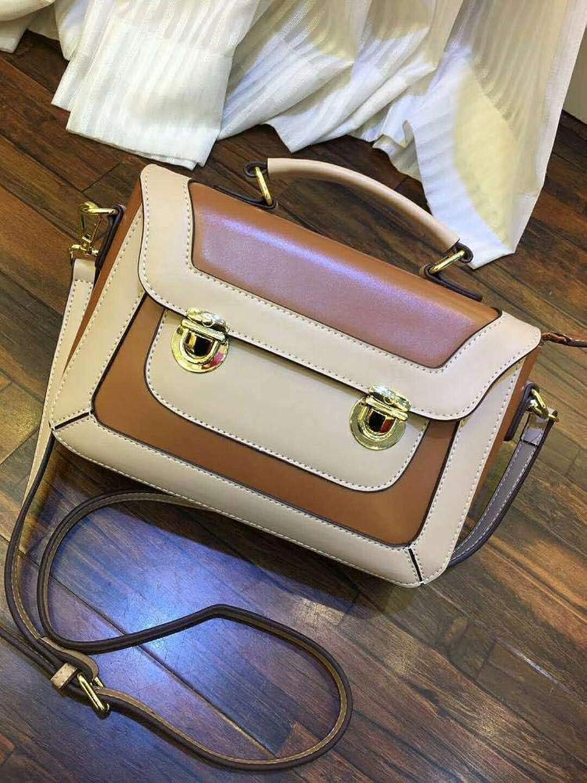 Ladies Handbag Single Shoulder Oblique Span Package HundredPack Handbag Bag Real Leather Bag (color   B)