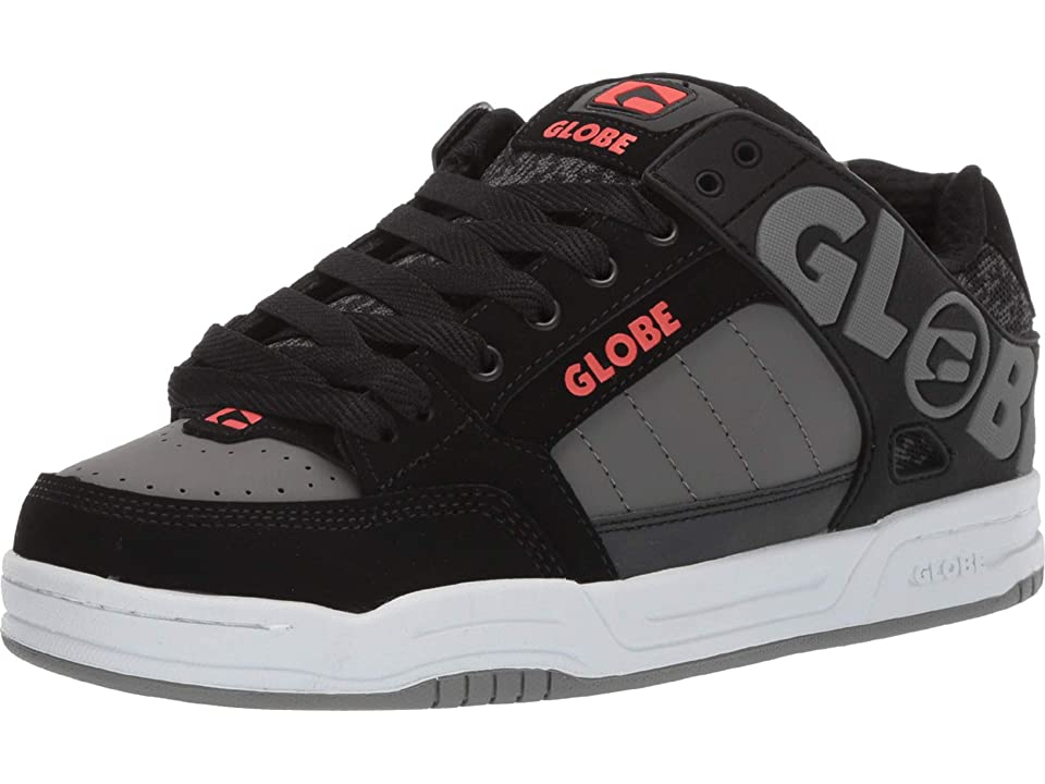 Globe Tilt (Black/Red/Grey Knit) Men's Skate Shoes