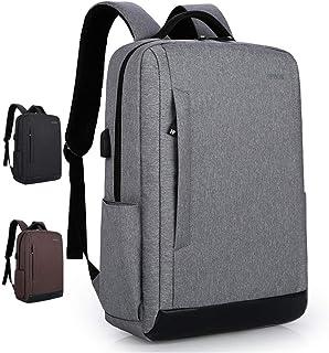 WJTWJSD Laptop Backpack Men and Women Travel Computer Bag Waterproof College Bag Laptop Briefcases (Color : Gray)