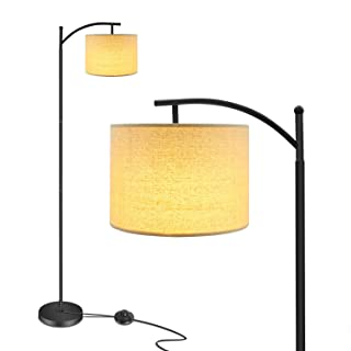 Floor Lamp, Ambimall Modern LED Floor Lamp for Living Room Standing Lamp Arc Pole Light with Hanging Lamp Shade Minimalist Bedside Floor Lamp for Bedroom (Without Bulb)