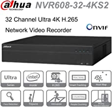 Dahua NVR NVR608-32-4KS2 32 Channel Ultra 4K H.265 Network Video Recorder Up to 12MP Resolution for Preview and Playback ONVIF English Version(Can Be Upgraded)