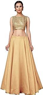 فستان ليهينغا الأنيق الأنيق للسيدات مع خياطة كاملة وثوب الحفلات جاهز للارتداء سادة