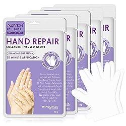 Aliver 5 pack, Moisturizing Hand Masks for Dry Hands