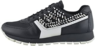 Leather Beads Decorated Fashion Sneakers Shoes
