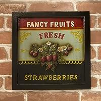 インテリア 雑貨 ユーズドのような仕上げの アメリカ雑貨 アンティークボード Strawberry