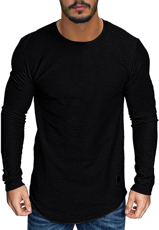 LEIYAN Mens Muscle T-Shirt Casual Long Sleeve Bodybuilding Gym Tee Fashion Hipster Workout Yoga Shirt Tops
