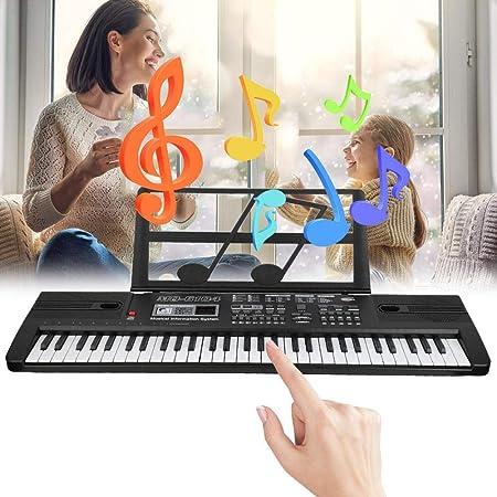 Teclado Digital Portátil, Teclado Digital Portátil de 61 Teclas para Niños Niña Principiantes con órgano Electrónico y Juguete Musical con Micrófono