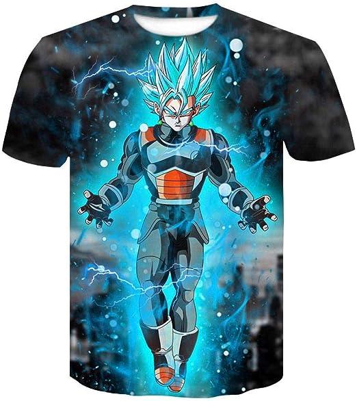 Dragon Ball Z Camisetas para Adolescentes Verano para Hombre ...