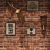 Peel and Stick Rustic Red Brick Wallpaper, Self-Adhesive Wallpaper, Vinyl Waterproof Vintage Wallpaper, Self-Sticking Wallpaper, Contact Paper for House Decoration, No.57104-6