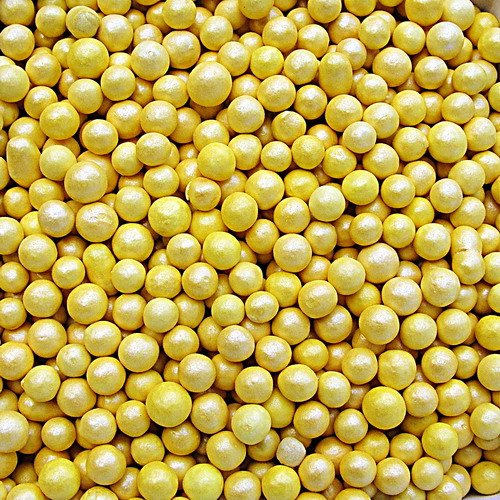 Tuercas GMO de gluten, color amarillo natural, sin soja, 100 y 1000 unidades