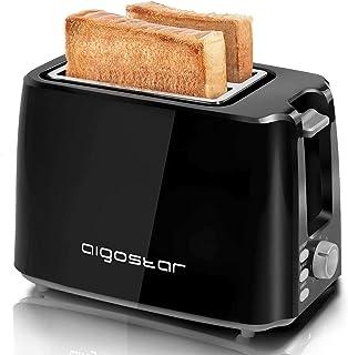 Aigostar Warrior 30JRL – Grille-pain 2 fentes extra-larges et 7 niveaux de brunissage. Fonctions toaster, décongeler, réch...
