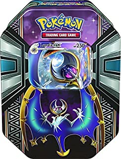 Pokémon TCG: Sun & Moon - Legends of Alola Tin with Lunala-GX | Includes 4 Pokemon Trading Card Game Booster Packs | Awesome Lunala-GX Themed Collector's Tin to Protect Your Cards & Collectibles