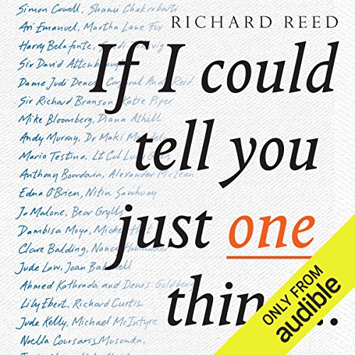 If I Could Tell You Just One Thing audiobook cover art