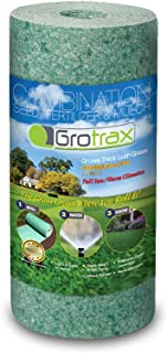 Grotrax Quick Fix Roll All-in-One Bermuda Rye Grass Seed Mat Roll, (50 Square Feet)