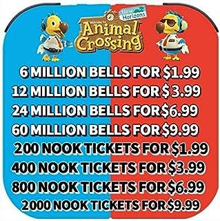 comprar comparacion Bells Nook Miles Boletos Fish Bait Animal Crossing New Horizons Entrega rápida (200 entradas de millas de Nook + 6 M Bells)