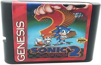 Royal Retro Sonic 2 pour console de jeux vidéo 16 bits Sega Genesis et Mega Drive (noir)