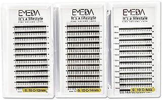 3 dozen 3D Volume Wimper extensions 0.10mm C krul Russische volume wimpers 12mm 14mm Mix 8-14mm 3D cluster wimper extensio...