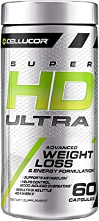 Cellucor SuperHD Ultra Thermogenic Fat Burner for Men & Women, Weight Loss Supplement with Green Coffee Bean & Leaf Extrac...