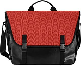 Bolsa de lona para hombre y mujer, diseño de abanico, color rojo