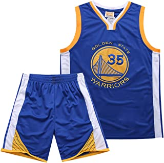 new product 2aea1 b40bf Warriors 35th Kevin Durant Ensemble Jersey Maillot Jersey D été
