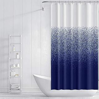 GWFVA Rideau de Douche imperméable en Polyester résistant aux moisissures avec Crochets pour Salle de Bain 120 x 180 cm