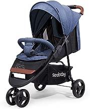 SpringBuds Baby Jogger City Tour Baby Stroller Jogger Stroller Single Stroller Shock-Resistant 360 Ultralight Jogging Stroller (Blue)
