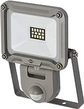 Brennenstuhl LED 室外射灯 JARO 1000P (适用于外部带运动探测器 用于墙壁安装 LED 泛光灯 10W 铝制 IP44) 银色