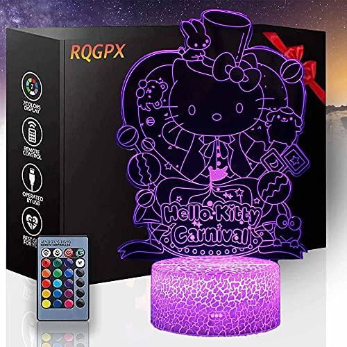 Juguetes gatito D regalos para niños 16 cambio de color decoración lámpara año nuevo día de San Valentín regalos para niños niñas habitación decoración