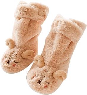 Niños Niñas Invierno Calentar Felpa Calcetines de Piso para Recién Nacido Bebé Zapatillas de Antideslizantes Lindo Dibujo Animado Bebé Medias Zapatos de Primeros Pasos 0-12 Meses