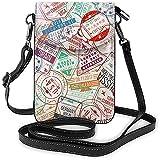 Portafoglio della borsa del telefono cellulare del bollo del passaporto per la borsa a tracolla piccola di viaggio di shopping delle donne