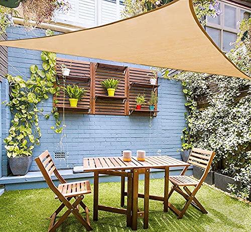 Emooqi Sonnensegel Dreieck Rechtwinklig, Sonnensegel Dreieckig 5x5x5M Sonnenschutz Atmungsaktiv HDPE UV Schutz, Permeable Canopy für Terrasse, Balkon und...