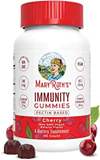 Immunity Gummies Elderberry 5-in-1 for Kids - Adults by MaryRuth's - Organic Ingredients - Echinacea, Vitamin C and D - Ve...