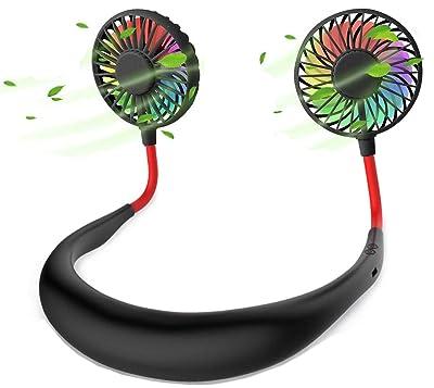 Hands-Free Portable Neck Fan - Rechargeable USB Mini Personal Fan