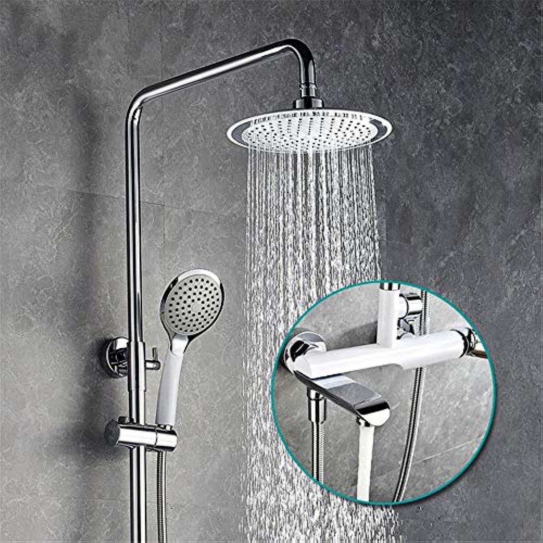 Europische weie Gequan Kupfer Wall Art Dusche Wasserhahn Dusche 3 Dusche mit abnehmbaren Duschkopf Dusche Aufzug Typ dusche System eingestellt
