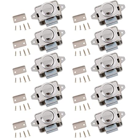 Hochwertig 10 Stück Metall Push Button Verriegelung Drehknopf Schloß Sattel Schrauben Für Wohnmobil Auto